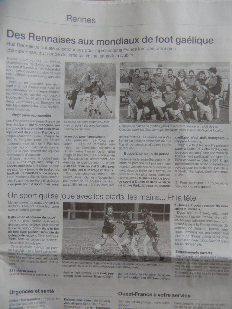 30 juin 2016 Article Ouest Frane