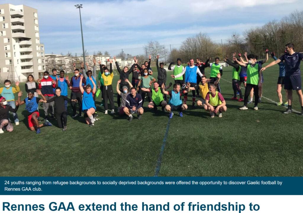 initiations jeunes football gaélique rennes maurepas beauregard
